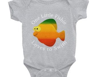 One Little Fishie Loves to Swim Infant Bodysuit