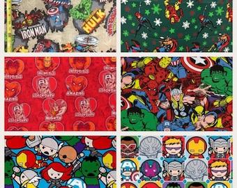 1/2 Yard  Avengers Fabric / Marvel Comic /  Fabric By The Yard