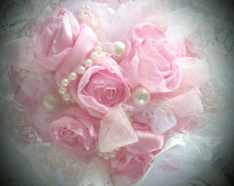 Bouquet of roses shabby chic