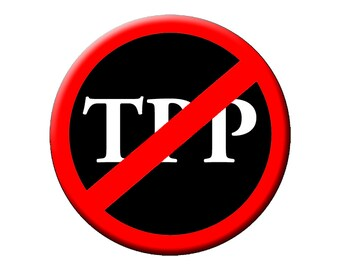 "No TPP!  TPP Slash Large 2.25""  Button or Magnet - Down with the TPP"