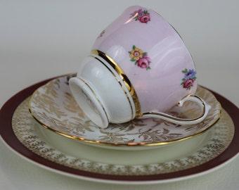 Mismatched Tea Cup Trio Colclough Gainsborough