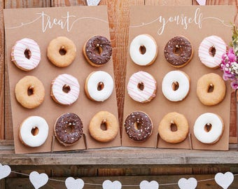 Rustic Country Donut Wall- Rustic wedding -Memories-Wedding Day-Christening -Anniversary-Birthday