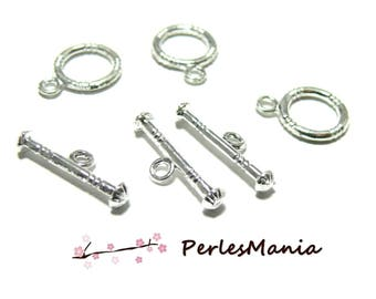 PAX: 20 SETS T sailor cottage style 2A 5814 ARGENTVIF colored metal toggle clasps