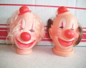 Plastic Circus Clown Head **