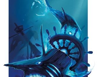 GhostShip Shark 8.5x11 Print