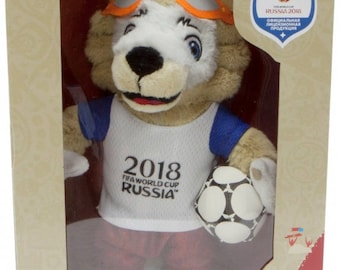 Soft toy Wolf Zabivaka 24cm gift wrapping mascot of the World Cup 2018, gift, souvenir, decoration