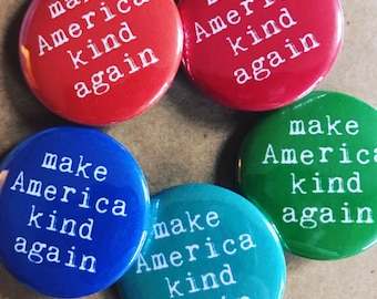 Colorful Make America Kind Again Set, Backpack Pin Sale, Discount Bulk Badges Pins Boho Buttons, Love Trumps Hate, Peace, Pin Sets