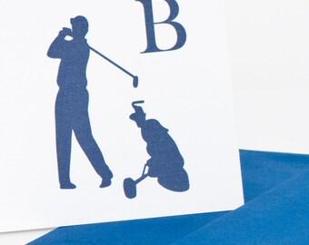 Golf Personalized Statonery Set (20) plus Matching Address Labels