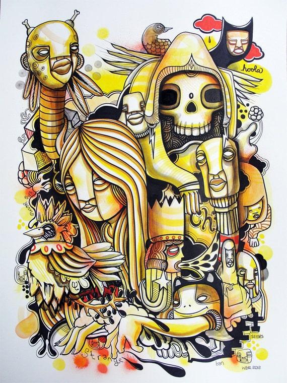 Hoola Chi - Original Illustration on Paper