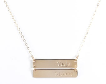 The Ashlee Stacked Bar Necklace