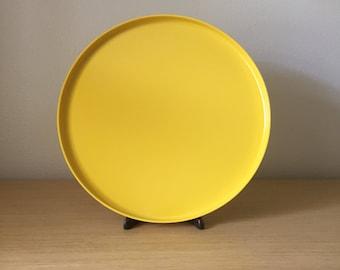large yellow heller serving platter