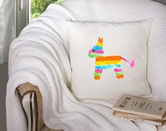 cinco de mayo throw pillow - pinata throw pillow - pinata decor - cinco de mayo decor  - decorative throw pillow . throw pillow with words -