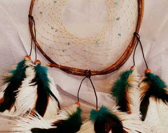 Buy 1 Get small 1 FREE!!!! Limited time only,dream catcher,home decor,native american, authentic, willow tree, willow branch, gem stones