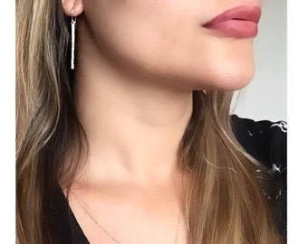 Rose Gold Earrings, Bar Earrings, Silver Earrings, Dangle Earrings, Gold Earrings, Gold Bar Earrings, Rose Gold Stud Earrings