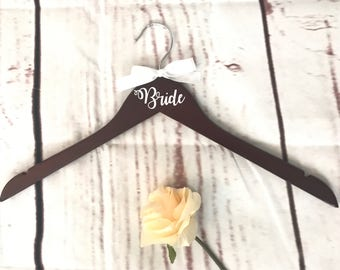 Personalized Wedding Dress Hangers, Temple Hangers, Bridal Hangers, Entourage Hangers, Custom hangers, Rustic Wedding