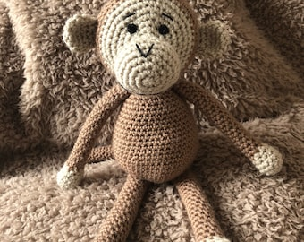 Crochet monkey by Little Gems Crochet - cheeky monkey amigurumi - chimpanzee. Chinese New Year - Year of the Monkey