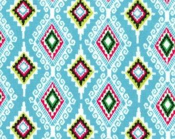 SALE - Michael Miller - Llama Navidad Collection - Felicia in Aqua