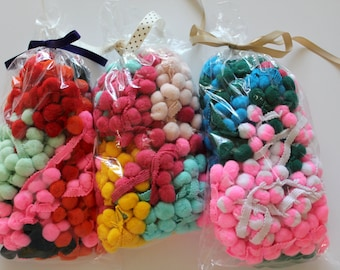 Bag of Pom Pom Fringe Remnants - 8 yards total