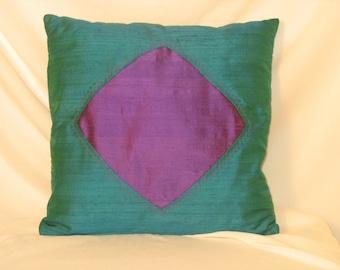 """Shelter"" dupion silk cushion cover"