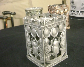 """Unique Egyptian Pewter Candle Mad in Egypt """"Collectible"""""""