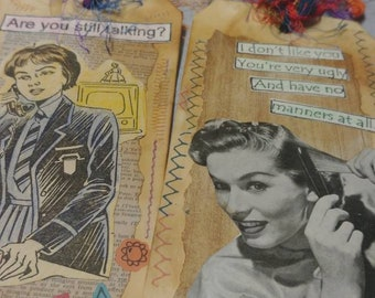 Altered Vintage Ladies Tag Set