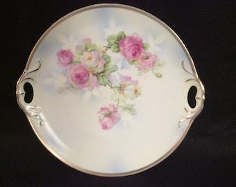 Triple Crown Germany Vintage Roses Cake Plate E-276