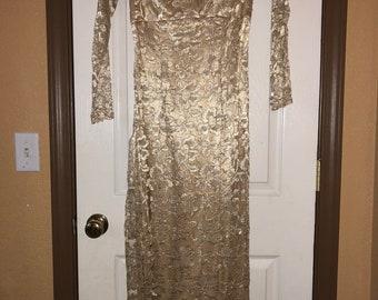 Gold Wedding/Formal Dress