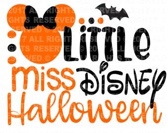 Little Miss Disney Halloween Cuttable cut file, svg file, svg cut file, cricut cut file, silhouette cut file, baby svg, new baby svg