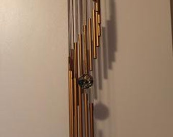 """wind chimes handmade-32"""" spiral staircase, w/18 copper tubes"""