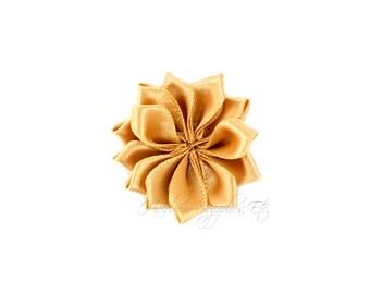 Beige Dainty Star Flowers 1-1/2 inch - Beige Fabric Flowers, Beige Silk Flowers, Beige Hair Flowers, Beige Flowers for Hair, Beige Flowers