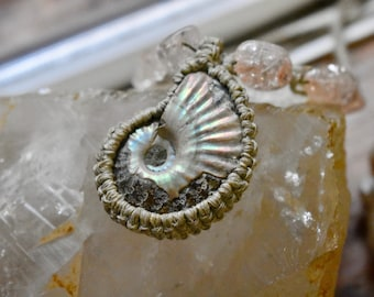 Hemp Ammonite Amulet
