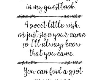 Baby Shower Guestbook Sign