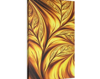 Vertical Leather Gallery Wraps - Modern Abstract Wall Art