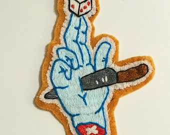 Gambler's Luck Hand Embroidered Patch