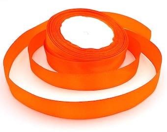 22 m 20mm Orange satin ribbon