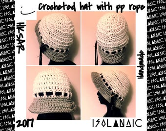 Dreamy Crocheted Fisherman Hat with PP rope