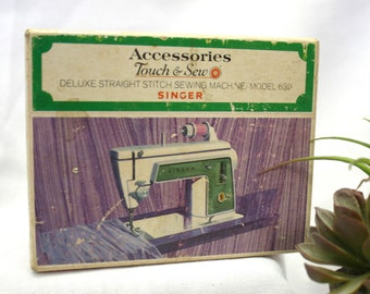 Vintage Singer Touch and Sew Model 639 Sewing Machine Instruction Booklet
