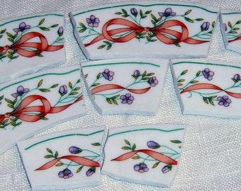 Broken China, Mosaic tiles, Mosaic Supplies, Hand Cut Tiles,