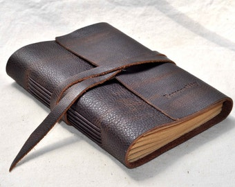 Personalized leather journals,  Refillable journal,Leather blank notebook,leather sketchbook  gifts for him(free stamp)