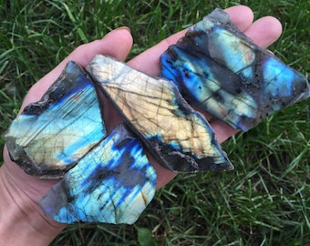 Flashy Top-Polished Labradorite Slabs