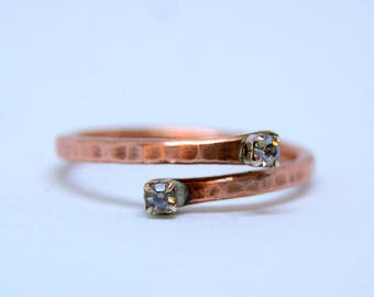 pure copper ring, Arthritis Ring, wire jewelry, copper jewellery, rustic ring, Valentine's Day gift idea