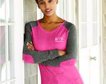 NEW PRODUCT- Rodan and Fields Women's Preppy Patch Slub + Color Elbows  R+F- Tshirt-Great Giveaway for Your Consultants