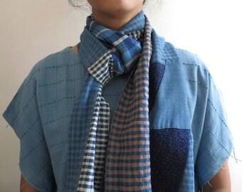 SKUIDHB35: Boro scarf no.35 / patchwork scarf / Toronto