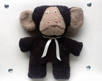 Cuddly plush Mr Brown monkey and eco-friendly recycled wire
