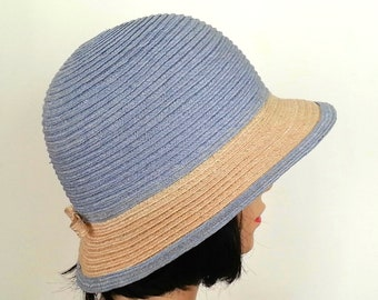 Straw hat with two colours