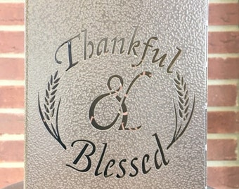 Thankful & Blessed Candle Holder
