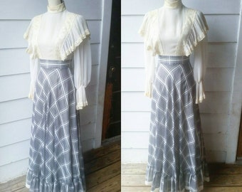 1960s Saks Fifth Avenue Prairie Dress || Small || Young Dimensions