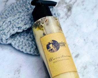 Mild Facial Cleanser. Lavender Face Wash. Natural Gentle Cleanser. Dry Skin Cleanser.  Natural Oil Cleanser. Natural Skin Care.