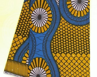 African Cotton Wax Printed Ankara Craft and Clothing Fabric (sold by the yard)