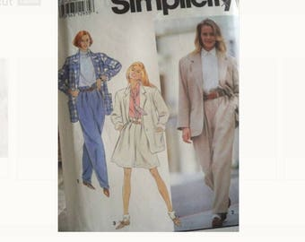 Simplicity Pattern 7986 - Jacket and Pants Pattern - Uncut